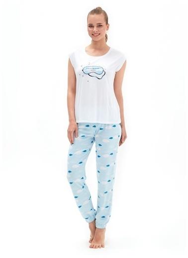 Blackspade Blackspade Pijama Takımı Beyaz